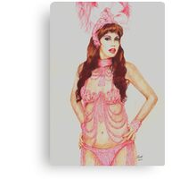 Sarina in the pink Canvas Print