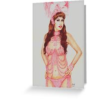 Sarina in the pink Greeting Card