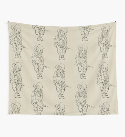 Kate Greenaway Collection 1905 0037 Boy with Grass Wall Tapestry