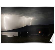 Thunder-storm on Baikal Poster