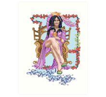 Tarot Queen of Cups  Art Print