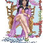 Tarot Queen of Cups  by redqueenself