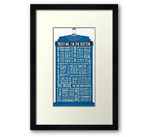 Doctor who quotes Framed Print