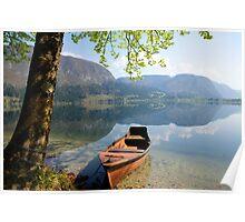 Tranquil alpine lake Poster