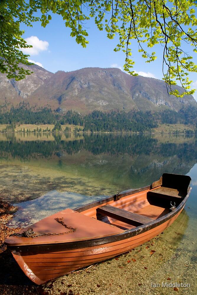 Tranquil alpine lake by Ian Middleton