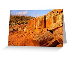 Red Granite Outcrop Greeting Card