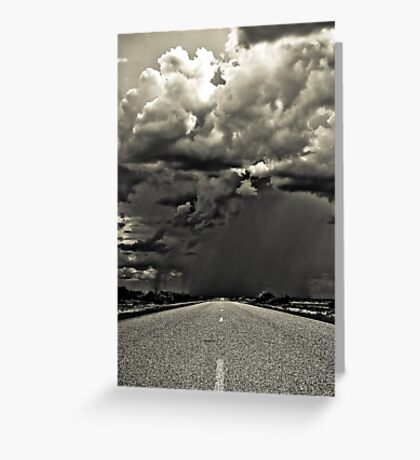 Going South, down the west coast of Australia. Greeting Card