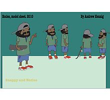 Character model sheet for animation  Photographic Print