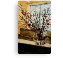 The glass vase. Canvas Print