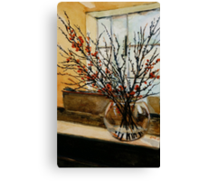 The glass vase. Canvas Print