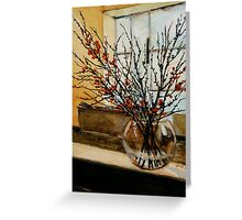 The glass vase. Greeting Card