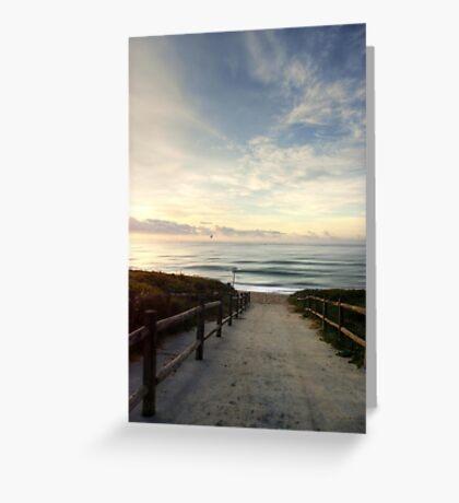 Old Bar Beach, Morning - HDR Greeting Card