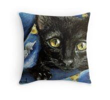 Of mice and cheese and woken kitty... Throw Pillow