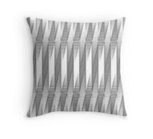 "Grainy Grey ""Bossa Nova"" Pattern (2 of 5, please see notes) Throw Pillow"