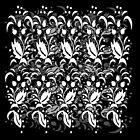Floral Multi Layer Pattern - Monochrome by Ra12