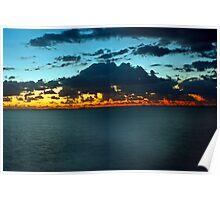 Sunset  at Redcliffe Poster