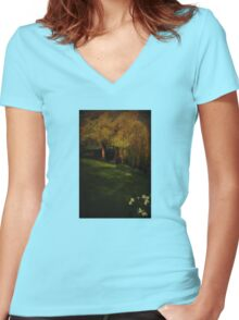 New Beginnings Women's Fitted V-Neck T-Shirt