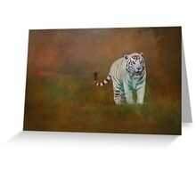W is for......White Tiger Greeting Card