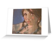 pastel study of Stacey Greeting Card