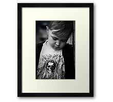 Q is for....Quit taking my photo mum I wanna play! Framed Print