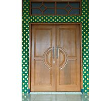 wooden door Photographic Print