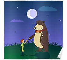 to best friend bear child funny Poster