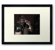 UFC fighter Framed Print