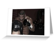 UFC fighter Greeting Card