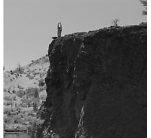 Yoga on a cliff Photographic Print