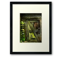 The Old Mossy Door Framed Print