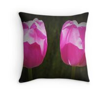 A couple Purple tulips Throw Pillow