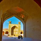 Through The Arches - Vakil Mosque - Shiraz - Iran by Bryan Freeman