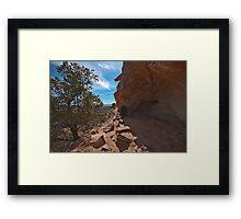 Aztec Butte Grainery Framed Print