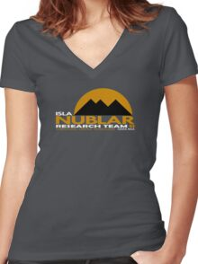 Isla Nublar Research Team 93 Women's Fitted V-Neck T-Shirt