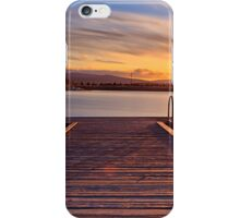 Sunset over the jetty iPhone Case/Skin