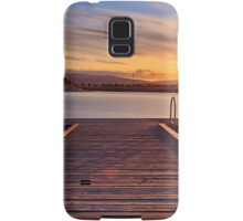 Sunset over the jetty Samsung Galaxy Case/Skin