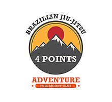 BJJ 4 Points Full Mount Club Photographic Print