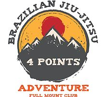 BJJ 4 Points Full Mount Club (grunge version) by bjjsom