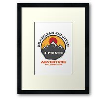 BJJ 4 Points Full Mount Club (grunge version) Framed Print