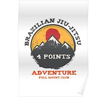 BJJ 4 Points Full Mount Club (grunge version) Poster