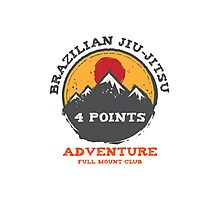 BJJ 4 Points Full Mount Club (grunge version) Photographic Print