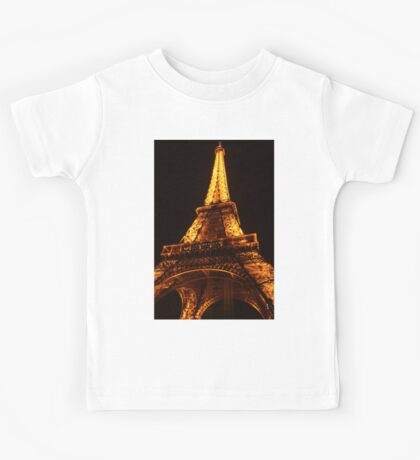 Glowing Gold Eiffel Kids Tee