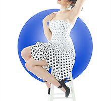 Polka Dot Dress Pin-up by samanthayo