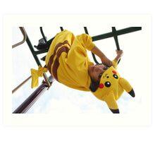 Pikachu Kigurumi Art Print