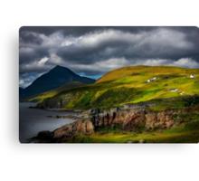 Elgol and Blaven, in Summer, Isle of Skye. Scotland. Canvas Print