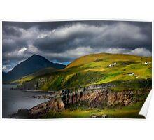 Elgol and Blaven, in Summer, Isle of Skye. Scotland. Poster