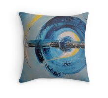 blue in motion Throw Pillow