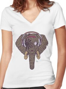 The Non-Stop Party You'll Never Forget Women's Fitted V-Neck T-Shirt
