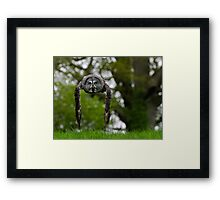 Great Grey Owl (Strix nebulosa) in flight Framed Print
