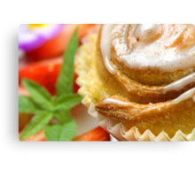 Sweet Snail Pastry Canvas Print
